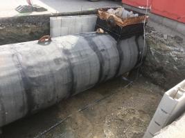 Prodej podzemní ocelové dvouplášťové nádrže