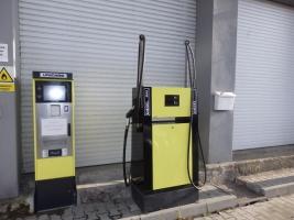 Samoobslužný výdejní stojan nafty + platební terminál